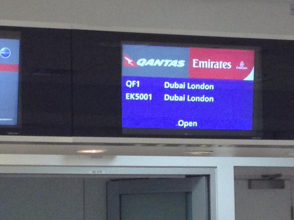 Day 1 – Sydney to Heathrow via Dubai